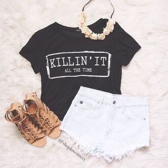 t-shirt killin it swag style indie hipster shoes shorts jewels cool sweatshirt storm trooper amazing preppy english london fashion soft grunge hippie spring vintage shirt black crop top