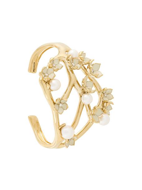 SHAUN LEANE cuff cherry women gold silver grey metallic jewels