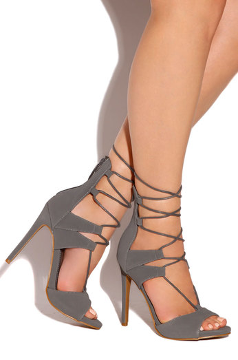 Charcoal Grey Shoes Heels