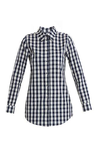 shirt boyfriend gingham navy top