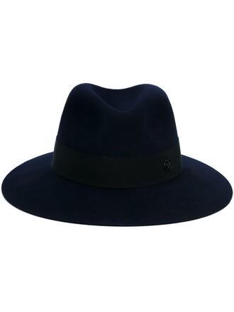 classic hat felt hat blue