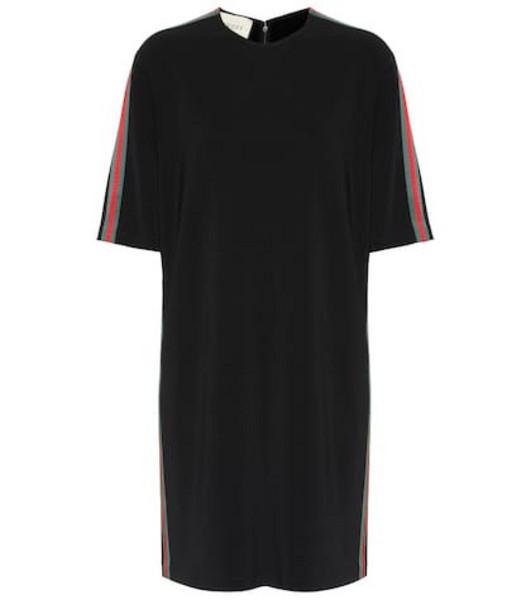 Gucci Stretch crêpe dress in black