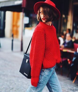 Tumblr Red Cable Knit Sweater - Shop for Tumblr Red Cable Knit ...