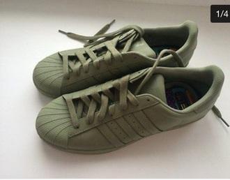 shoes khaki adidas superstars