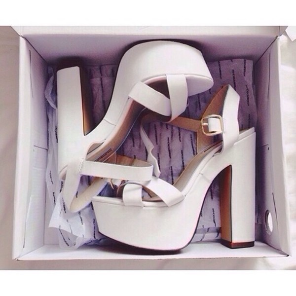 shoes platform shoes platform shoes white high heels strappy heels heels high shoes girly style platform sandals white shoes platform high heels blanc white pumps high heels white heels skirt girl girly wishlist mini skirt white skirt cute wrap skirt