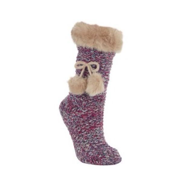 socks knitted socks fur socks