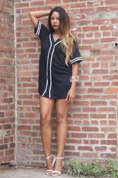 dress,jersey dress,trill,black