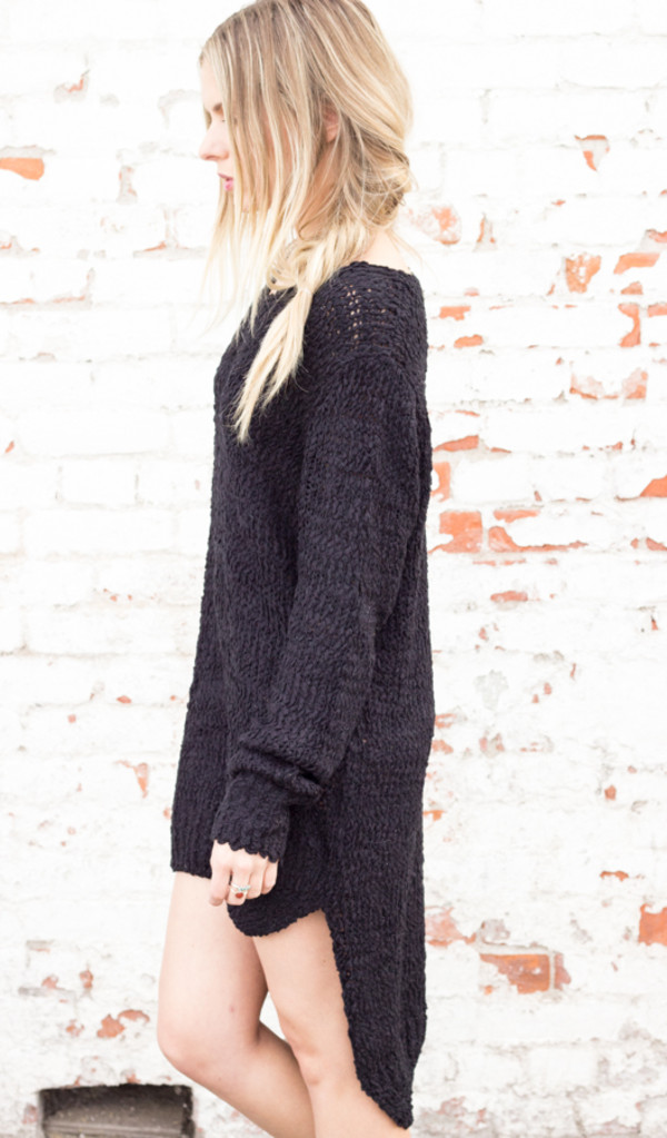 sweater dress knit long sleeves top