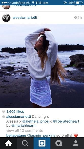 sweater white jumper skirt