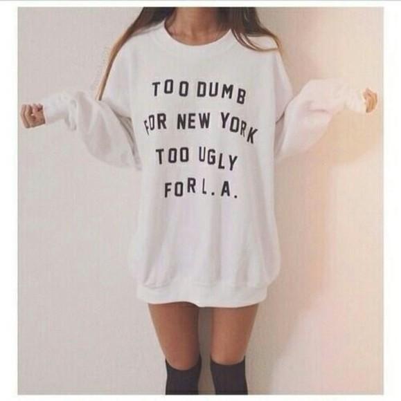 sweater cute oversized sweater oversized newyorkcity los angeles sweater/sweatshirt ugly dumb want want want