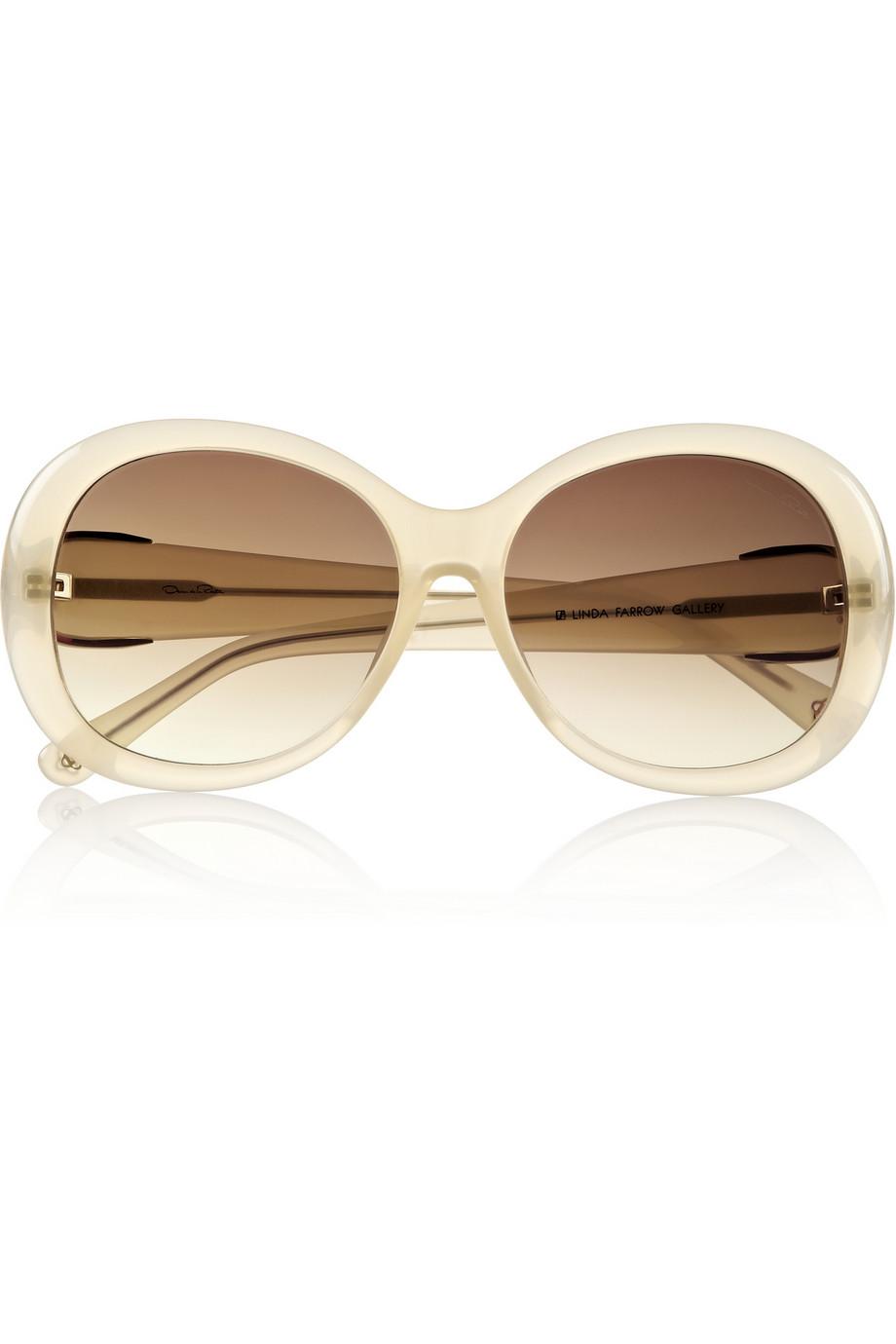 Round-frame acetate sunglasses | Oscar de la Renta | THE OUTNET