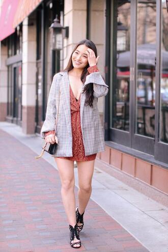 sensible stylista blogger dress shoes jewels jacket bag spring outfits blazer ysl bag sandals