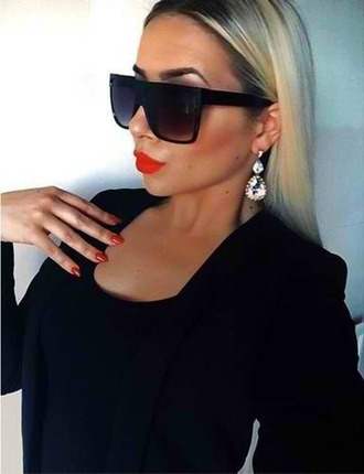 sunglasses sunnies black earrings celine drop earrings