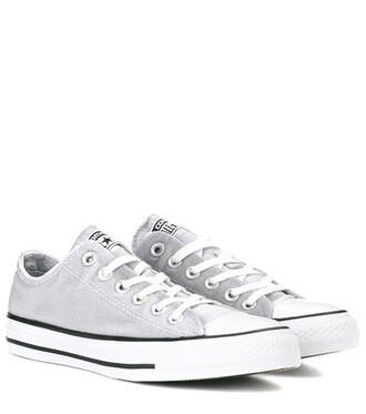 sneakers velvet grey shoes