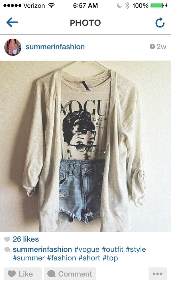 blouse shorts cardigan vouge shirt classic jacket