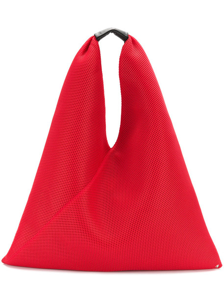 Mm6 Maison Margiela triangle women bag tote bag leather red