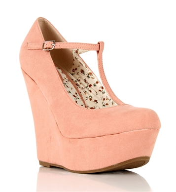 T Strap Wedges