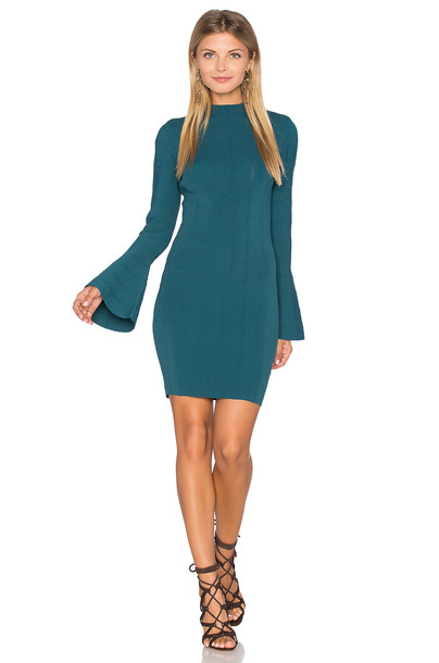 dress long sleeve dress knit long green