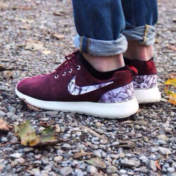 569c6c1d314e roshes maroon 52hb9e l 610x610 shoes maroon nike roshes floral
