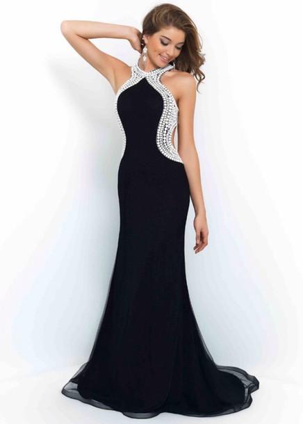 dress black dress white perls