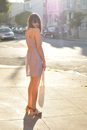 blushing ambition,open back,pink dress,dress