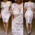 Aliexpress.com : Buy Bodycon Bandage Celebrity Style Women's Vintage Floral Boho Crochet Lace Woman Midi Evening Party Pencil Dress With Lining from Reliable dress clogs for women suppliers on Pelum Factory Outlet