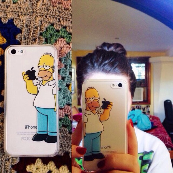 the simpsons the simpsons phone cover iphone case technology cartoon earphones