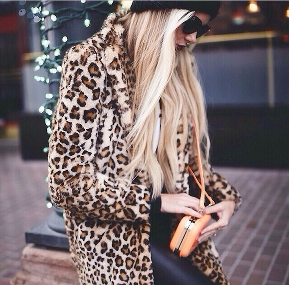 jacket coat leopard print fur faux fur coat faux fur jacket leopard jacket leopard coat