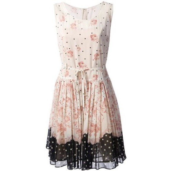 floral dress ulzzang fashion clothes vestidos mini dress multi colour