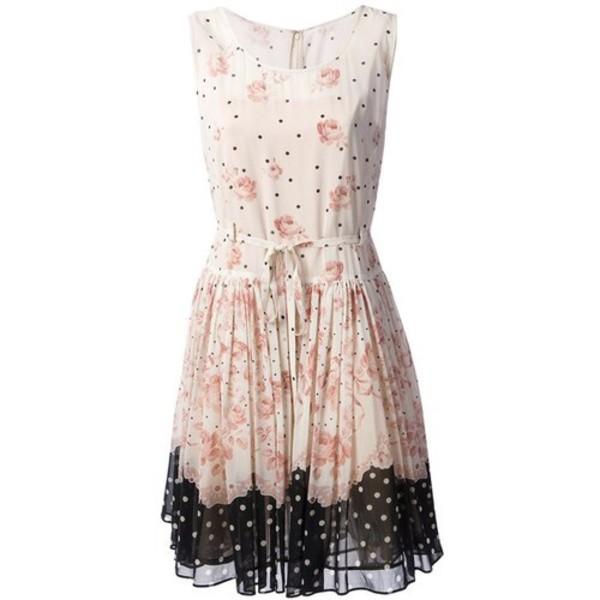 ulzzang clothes vestidos mini dress floral dress multi colour
