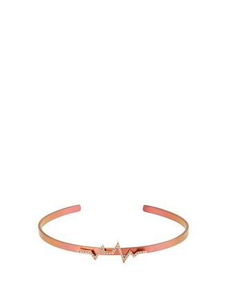 cuff rose gold pink jewels