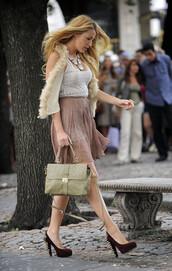 bag,shoes,skirt,blake lively,shorts,jacket