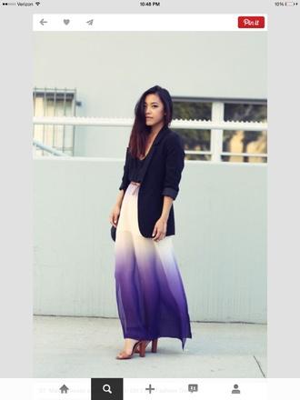 skirt skirt ombre purple