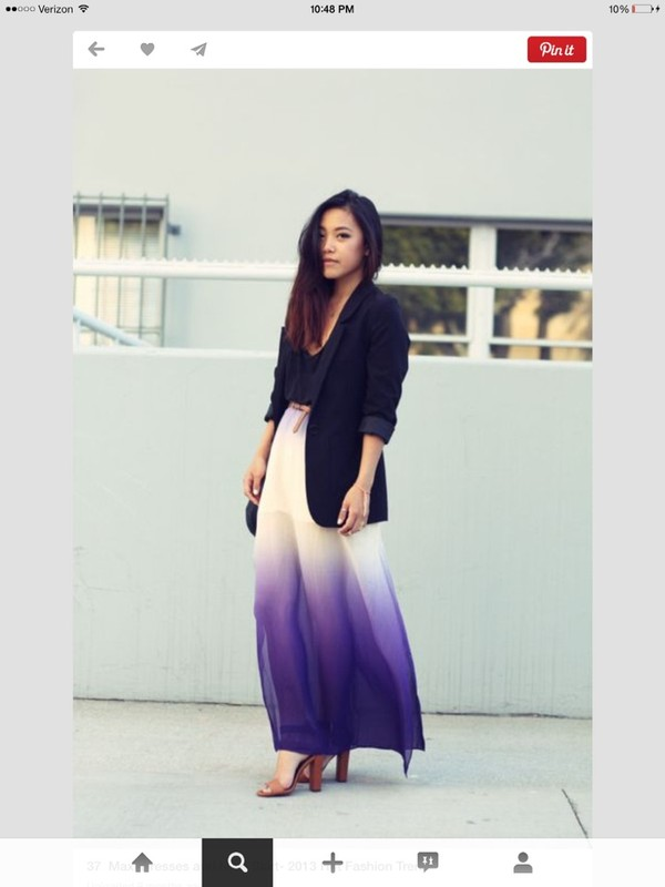 skirt skirt ombre purple