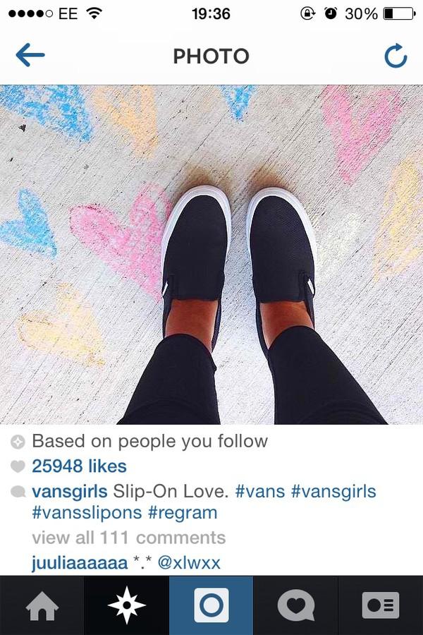 vans slip on trainers leather