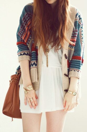 jacket blue red white dress cardigan sweater aztec cartigan coat jewels