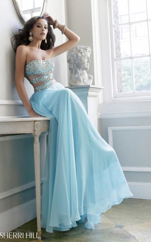 Sherri Hill 11088 Aqua Prom Gown