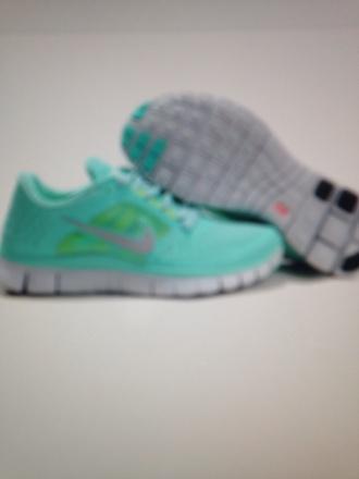 shoes nike nike free run tiffanyblue
