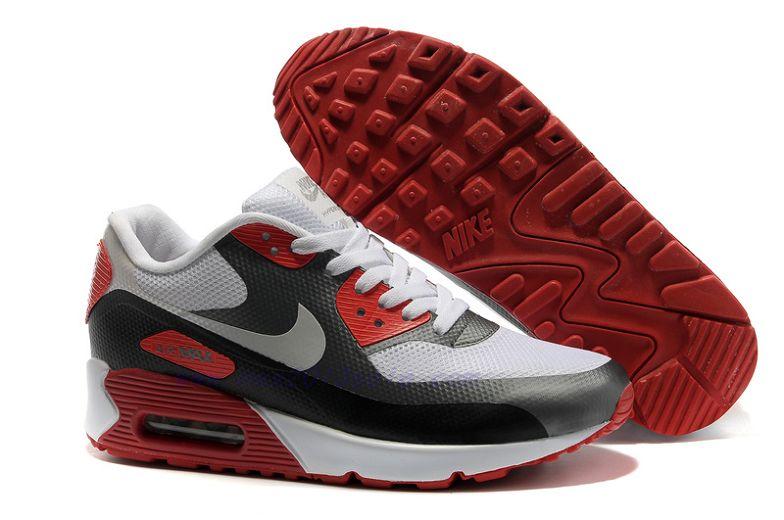 Il prezzo più conveniente Nike Air Max 90 Hyperfuse Bianco Nero Rosso Uomo Materiali di alta qualità 100%.