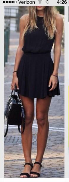 dress black dress. sleeveless