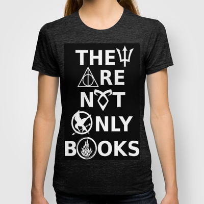 They Are Not Only Books (inverted) T-shirt by phantastique | Society6