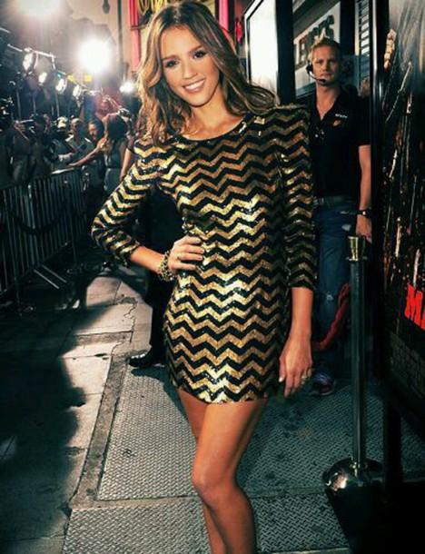dress glitter dress newyears dress style chevron gold sequins chevron dresses