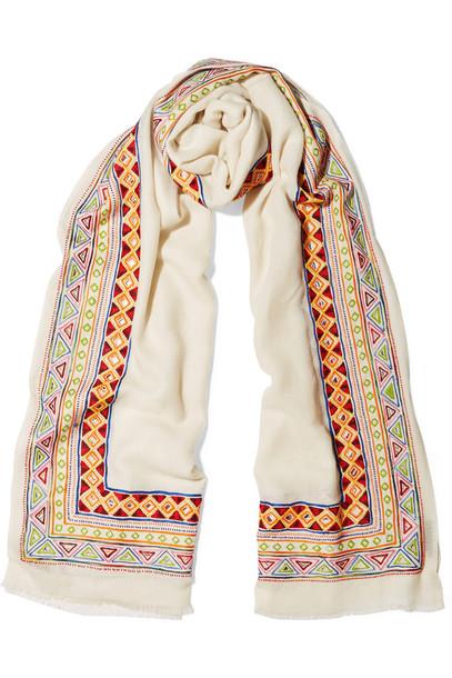 Janavi embellished scarf wool