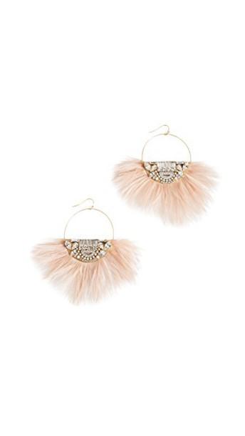 Sandy Hyun earrings gold pink jewels