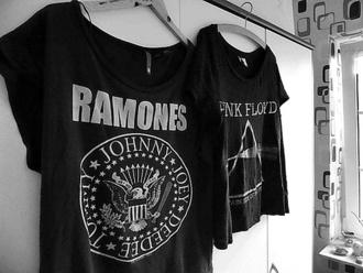 t-shirt ramones fan black
