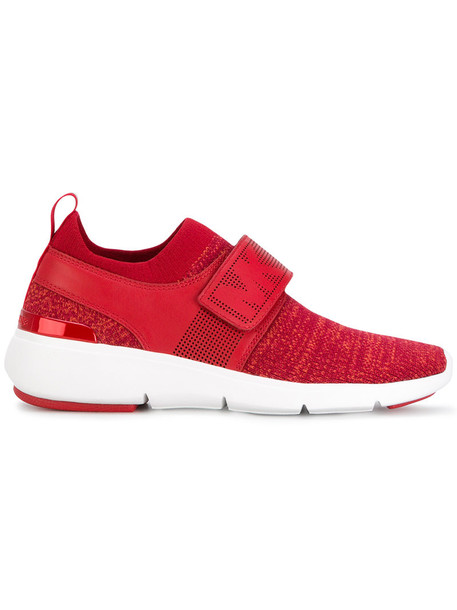 MICHAEL Michael Kors women sneakers leather red shoes