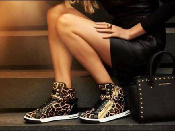 96cd75ab757 shoes michael kors animal print sneakers leopard print