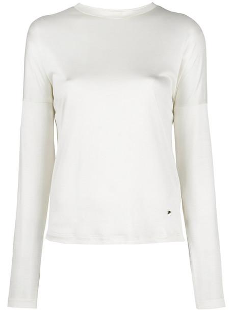 Dsquared2 sweater women classic white silk