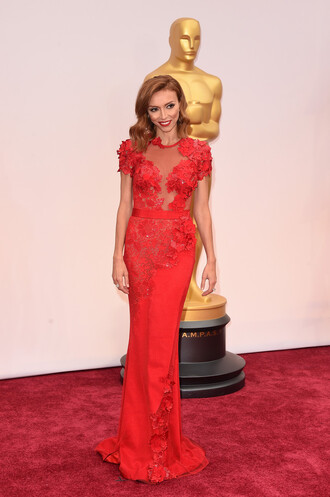 dress oscars 2015 gown red dress red carpet dress giuliana rancic