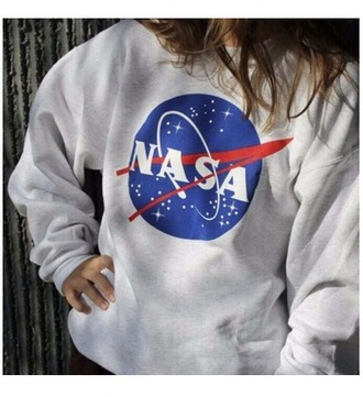 sweater girl girly girly wishlist sweatshirt nasa